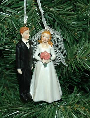 Wedding, Bride And Groom Christmas Ornament