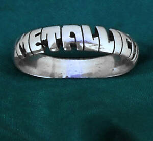 METALLICA-STERLING-SILVER-name-Ring-ANY-SIZE