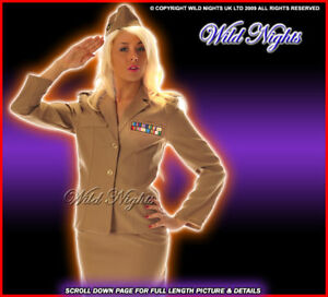 FANCY-DRESS-COSTUME-DELUXE-1940S-ARMY-LADY-MED-12-14