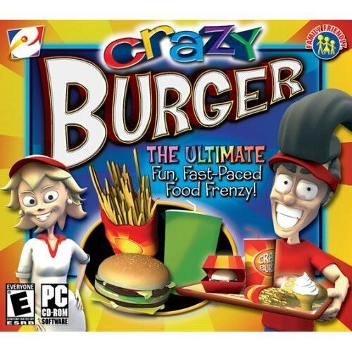 Computer Games - Crazy Burger PC Games Windows 10 8 7 XP Computer time management business NEW