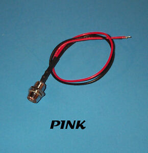 LED-5mm-PRE-WIRED-12-VOLT-WITH-CHROME-BEZEL-PINK
