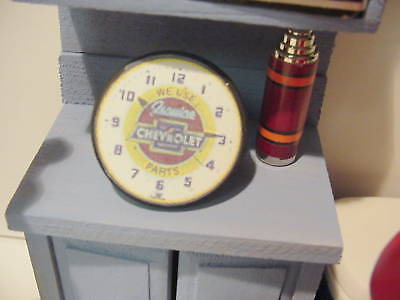 1/18 - Genuine Chevrolet- Round Wall Clock-SCALE-for your shop/garage/diorama