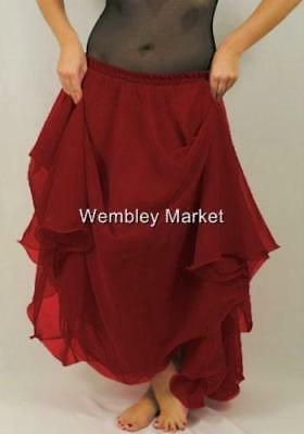 9-Yd-2-Layer-Full-Circle-Skirt-BellyDance-Club-25-Color