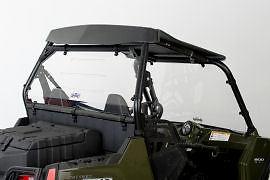 Slipstreamer utv polaris rzr vented rear windshield 2009 2010 2011