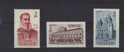 CHILE SET OF 3 MINT/NH SET/PART SET 1969 CASA DE MONEDA
