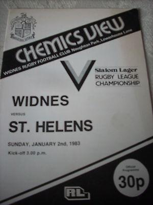 2.1.83 Widnes v St Helens programme