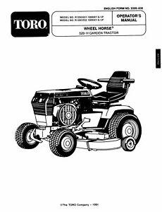 Wheel Horse 500 Series Operators Manual Model # 520H (1991