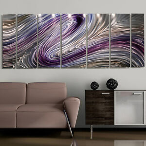 Modern-Abstract-Purple-Painting-Metal-Wall-Art-Wild-Imagination-By-Jon-Allen
