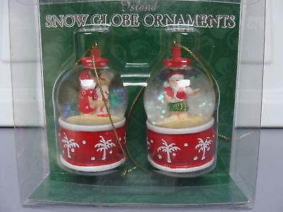 X-mas Christmas Holiday Mini Snow Globe Ornament Island