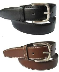 s black or brown dress belt genuine leather mens