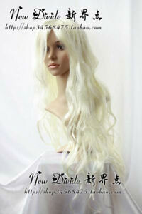 308 New Long Platinum-Blonde Cosplay Party Wig 100cm
