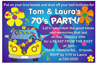 70s PARTY INVITATIONS – 70s Party Invitations