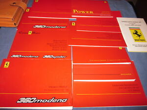 2000-FERRARI-360-MODENA-F1-OWNERS-MANUAL-SET