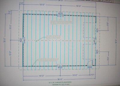 30 x 36 garage shop plans materials list blueprints plan 1009a for Garage material list