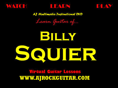 Custom Guitar Lessons, Learn Billy Squier on Rummage
