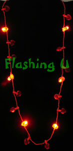 Light-Up-HEART-NECKLACE-Valentines-JULY-4th-FLASHING-LED-Blinking-CUPID-COSTUME