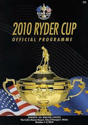 * 2010 RYDER CUP OFFICIAL PROGRAMME - EUROPE v USA *