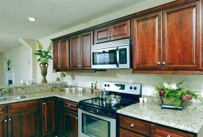Medium Walnut Kitchen Cabinets-finish Sample-rta-low $$-all Wood Cabinets