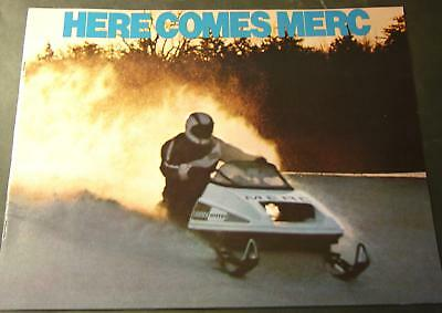 1976 MERCURY SNO TWISTER RACING SNOWMOBILE SALES BROCHURE NICE