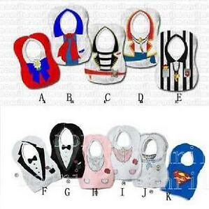 Tuxedo-Princess-Baby-Feeding-Bibs-Toddlers-Infant