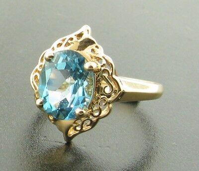 14ct Blue Topaz Ring £225
