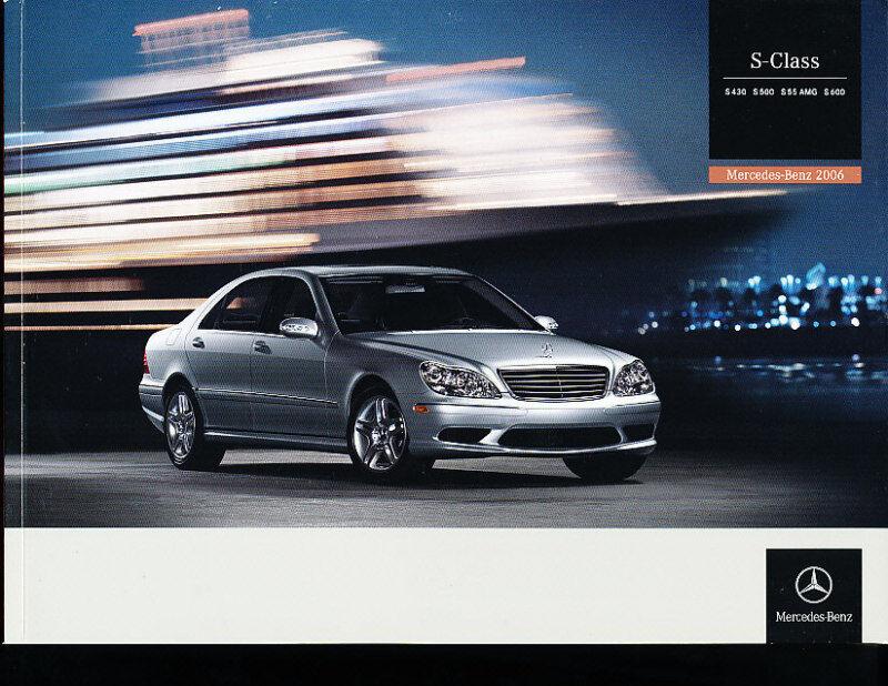 2006 Mercedes Benz S430 S500 S55 Sales Brochure