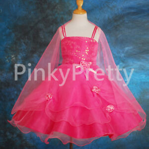 Organza-Wedding-Flower-Girl-Bridesmaid-Formal-Party-Dress-Shawl-Size-3-11y-FG008