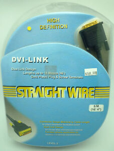 Straightwire-DVI-Link-5-meter-DVI-Cable-New-in-Box