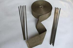 bande isolant thermique collecteur echappement titanium ebay. Black Bedroom Furniture Sets. Home Design Ideas