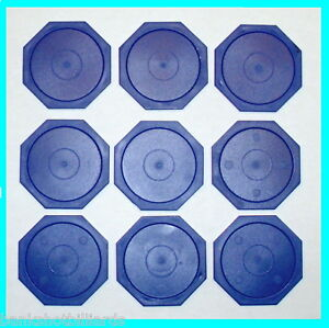 9-Small-Blue-Octagon-Air-Pucks-for-Table-Hockey-parts