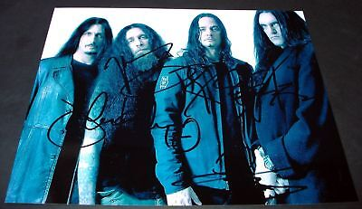 "TYPE O NEGATIVE BAND PP SIGNED 10X8"" PHOTO REPRO STEELE"