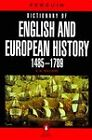 Dictionary of English and European History, 1485-1789 by E.N. Williams (Paperback, 1980)