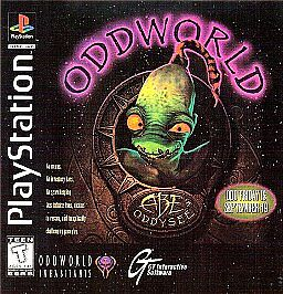 Oddworld-Abes-Oddysee-BLACK-ORIGINAL-PLAYSTATION-1-2-3-PS1-PS2-PS3-619VB