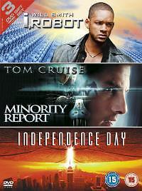I, Robot / Minority Report / Independence Day (DVD, 2005, 3-Disc Set) V GOOD
