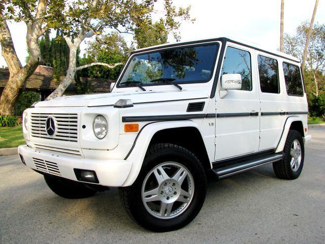 2003 mercedes benz g500 g class suv white gray luxury for 2003 mercedes benz g500