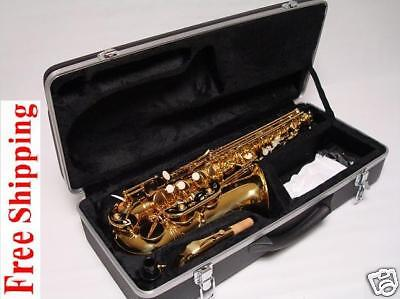 Professional Gold Alto Saxophone Sax Barnd New on Rummage