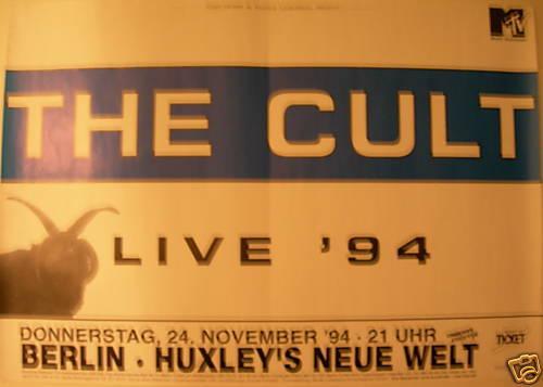 THE CULT CONCERT TOUR POSTER 1994