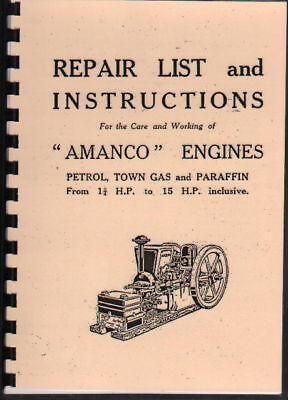 Amanco Stationary Engine Repair Instruction Manual
