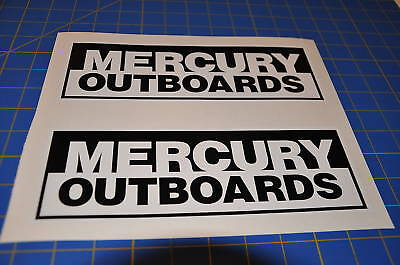 Mercury Outboards White/black Sticker Race Boat Decal
