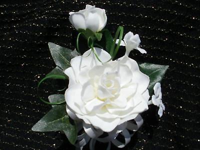 Wedding Gardenia & Stephanotis White Or Ivory Corsage