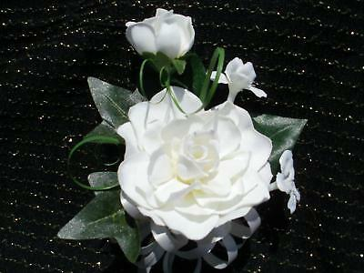 Wedding Gardenia & Stephanotis White Or Ivory Corsage