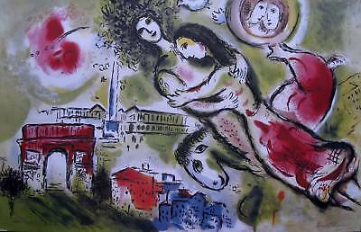 "MARC CHAGALL ""ROMEO & JULIET"" Signed Limited Edition Lithograph Art"