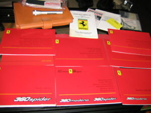 2004-FERRARI-360-SPIDER-OWNERS-MANUAL-SET-COMPLETE