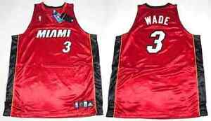 NBA AUTHENTIC Trikot MIAMI HEAT Dwayne Wade #3 rot in sz56/4XL/XXXXL