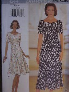 3244 Butterick Sewing Pattern Misses EASY Feminine Dress UNCUT