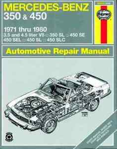 NEW-HAYNES-REPAIR-WORKSHOP-MANUAL-MERCEDES-BENZ-350-450