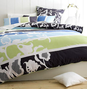 Paxton-Wiggin-Munroe-Blue-Charcoal-Green-KING-Size-Quilt-Doona-Cover-Set