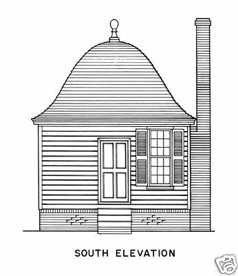 Williamsburg colonial brick cottage detailed plans ebay for Williamsburg colonial house plans