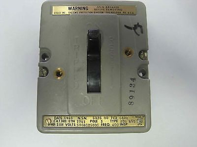 Gould Air Circuit Breaker Aqb-a50 3-pole Etn-1041