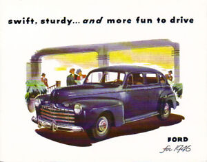 1946 FORD V-8/6  PASSENGER CAR SALES BROCHURE